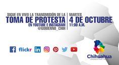 Estamos en vivo en @instagram y @youtube en la Toma de Protesta con usuario: gob_chih  #gobiernotransversal #gobiernochihuahua #javiercorral