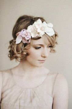 Floral bouquet hair crown