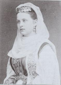 King George I & Queen Olga (nee Romanov) of Greece Part 1 King George I, Greek Dress, Danish Prince, Greek Royal Family, Christian Ix, Grand Duchess Olga, Court Dresses, Grand Duke, Imperial Russia