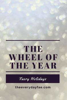 Faery Holidays and the Wheel of the Year Believe In Magic, Natural World, Faeries, Wicca, Witchcraft, About Me Blog, Spirituality, Fairy, Holidays