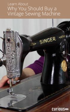 Do you plan to use all the fancy decorative stitches that come standard on new sewing machines? In this lesson, discover the world of vintage sewing machines.