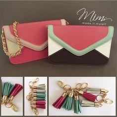 Bolsas modelo camafeu multicoloridas  ️️Crie a sua bolsa pelo site ➡️️️️️️www.mimsbags.com #criesuabolsa #bolsa #bolsadecouro