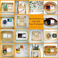 Montessori-inspired North America learning activities and free printables for kids.