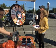 Dunkin' Donuts has been traveling around Maine offering free coffee and spins on the Prize Wheel. Read more about the Prize Wheel at https://PrizeWheel.com/blog/