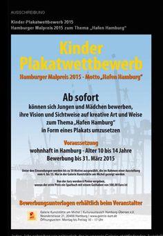 Tipp: Hamburg Kinder-Plakatwettbewerb 2015 Motto, Atelier, Request For Proposal, Poster, Creative, Tips, Mottos