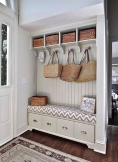 I think that by eliminating our foyer closet, I can create this!