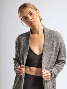 Winter is coming! Warm up in our Convertible Cardi Longline Cardigan, Open Cardigan, Sweater Cardigan, Winter Is Coming, Long A Line, Sweater Fashion, Warm And Cozy, Get The Look, Convertible
