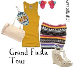 """""""Grand Fiesta Tour Inspired"""" by disneydiva305 ❤ liked on Polyvore"""