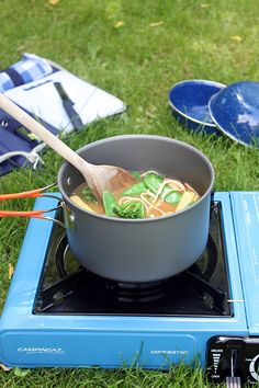 Udon Miso Soup | Camping Recipe | Veggie Desserts Blog  This udon miso soup is super-quick to make either at home, or even while camping! It's vegan, healthy and filling, plus it can be ready in less than 10 minutes, with little mess to clean up.
