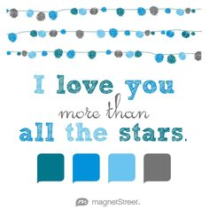Peacock, Cornflower, Light Blue, and Charcoal Wedding Color Palette - free custom artwork created at MagnetStreet.com