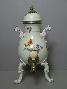 A Hot Water Urn with Silver Mounts, 18th century