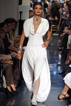 Jean Paul gaultier SS 2012 - Wish there were pants like these this summer..