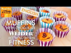 Muffins with chocolate fitness (english) | Healthy&Tasty by Weider - YouTube