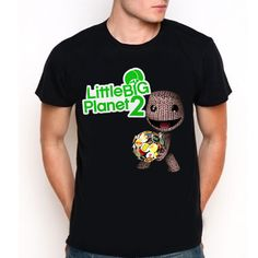 LITTLE BIG PLANET 2 LBP2 Goty Puzzle Video Game PS3 Logo Symbol Black T-Shirt