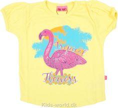 Me Too T-shirt - Gul m. Print - Børnetøj med fri fragt.