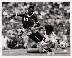 Autographed Pele Picture - 11 x 14 Authentic - JSA Certified - Autographed Soccer Photos >>> Click image to review more details.
