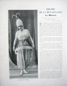 1914 - Paul Poiret costume for 'Le Minaret' in Le Theâtre