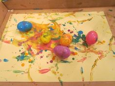 Great easter activity, painting with easter eggs