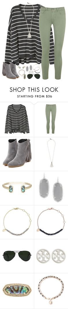 """let curiosity lead the way"" by kaley-ii ❤ liked on Polyvore featuring MANGO, Paige Denim, Oscar de la Renta, Kendra Scott, Meira T, Ray-Ban, Tory Burch and Astley Clarke"