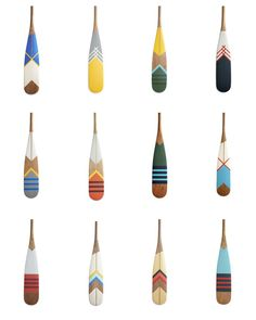 painted oars - inspiration