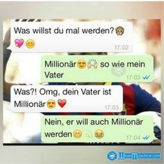 Zukunft: Millionär werden wie der Vater