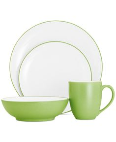Noritake Colorwave Apple Coupe Collection - Dinnerware - Macy's Wedding Registry