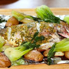 Asian Inspired Roasted Red Snapper & Braised Bok Choi Recipe on Food52 recipe on Food52