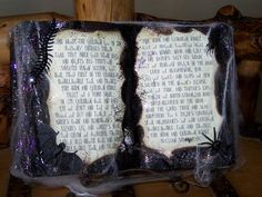 Mommy's Menu: DIY: Halloween Spell Book cool tutorial for great Halloween craft... great with some old bottles and a cauldron.
