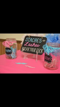 Staches or Lashes Wear Your Pick GENDER REVEAL by CraftsByColleenV