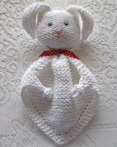 Lovey security blanket knitting patterns brand design knitting we like knitting bunny blanket buddy free pattern negle Gallery