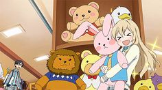 Kousei, Kaori, stuffed bunny, funny, gif, toy store; Your Lie in April