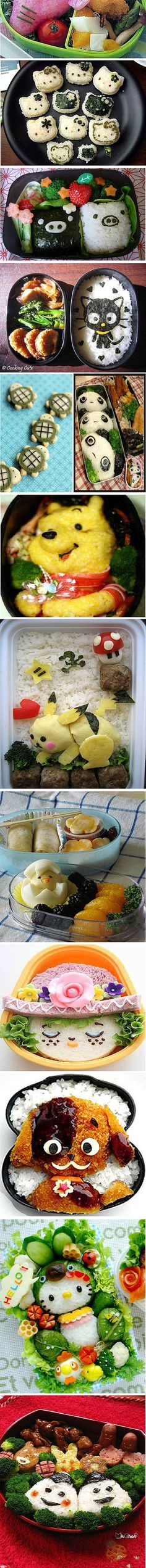 A Merry-Go-Round of Summer Bento 🤗🎀💖 - Japanese Bento & Traditional Fare 弁当、和食 - Food Kawaii, Bento Kawaii, Cute Bento Boxes, Bento Box Lunch, Bento Food, Lunch Boxes, Bento Lunchbox, Japanese Food Art, Japanese Lunch