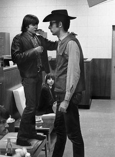 This is funny!...  Davy Jones with Bob Rafelson, The Monkees.