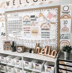 Kindergarten Classroom Decor, New Classroom, Classroom Design, Classroom Themes, Classroom Organization, First Grade Classroom, Classroom Banner, Teachers Room, Class Decoration
