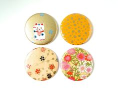 Pocket Mirror Maneki Neko Retro Japanese Paper by PrettyKiku, $5.00
