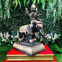"16"" Large Shiva With Elephant Ganesha Statue Gold Gilt Mahadeva Thai Buddha Art | eBay"