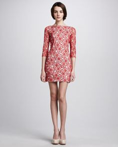 T4P2B Diane von Furstenberg Sarita Tulle Lace Dress