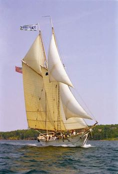 "The schooner ""Mary Day"" from Camden Harbor"