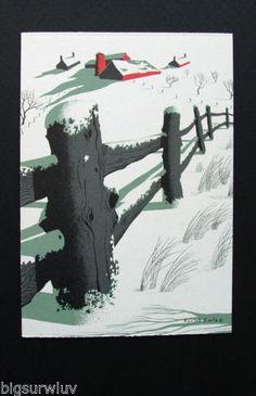 Serenity-of-Winter-Eyvind-Earle-Unused-Christmas-Greeting-Card-Stunning