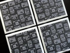 Camera Tile Coasters Tile Coasters Coaster Coasters by KimLKrafts