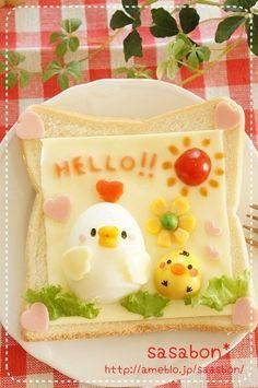 chicken & chick cheese toast