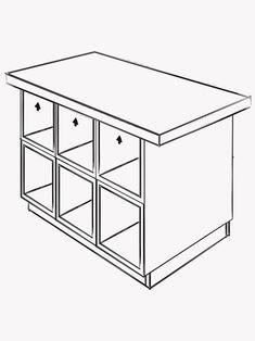 Kitchen Countertops, Kitchen Island, Single Apartment, Bakery Kitchen, Ikea Furniture Hacks, Ikea Hackers, Upper Cabinets, New Homes, Storage