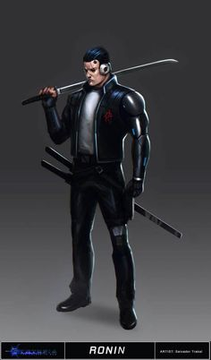 Cyberpunk Cyntopia - Ronin Concept Art by SalvadorTrakal Character Concept, Character Art, Concept Art, Character Design, Shadowrun Rpg, Cyberpunk Rpg, Cyberpunk Fashion, Arte Ninja, Comic