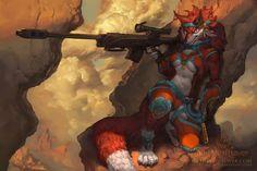 Fire Wolf by The-SixthLeafClover.deviantart.com on @DeviantArt