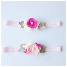 Floral Headbands Felt Flower Hair Accessory by SweetMimiStudio
