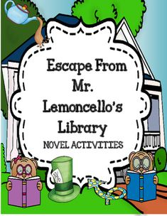 This resource is the complete novel study ( comprehension, vocabulary plus… Character Activities, Library Activities, Vocabulary Activities, Reading Activities, Library Skills, Library Ideas, Text To Self, Roman, Teaching Language Arts
