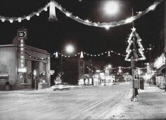 Christmas lights on Broadway Council Bluffs, Iowa Council Bluffs Iowa, Strange Places, Historical Pictures, Old Pictures, Nebraska, Vintage Photos, History, Christmas Lights, Broadway