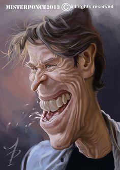 Caricatura de Willem Dafoe - www.remix-numerisation.fr - Rendez vos souvenirs durables ! - Sauvegarde - Transfert - Copie - Restauration de bande magnétique Audio