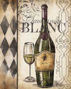 "Photo from album ""ВИННЫЕ ПОСТЕРЫ"" on Yandex. Pinot Noir Wine, Wine Painting, White Wine Glasses, Octopus Art, Wine Signs, Cafe Art, Vintage Wine, Vintage Paris, Vintage Typography"