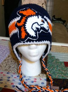 Denver Broncos Hat Baby Sizes by JHCrafter on Etsy, $10.00
